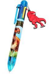 Dino World Boligrafo de 6 Colores 5146