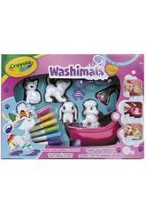Washimals Pets Baignoire et 4 Animals de Compagnie Crayola 74-7249