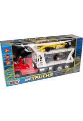 Camion Porte-voitures Rouge avec 2 Formule 1
