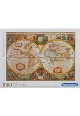 Puzzle 1.000 Mapa Antiguo Clementoni 31229