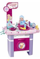 Table à Langer Bébé avec des Accessoires 27 peèces