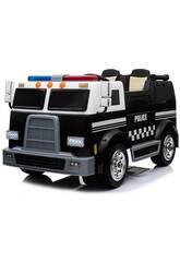 Camion Batteria Furgone della Polizia 12v. Radio Comando