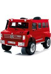 Batterie-Truck Mercedes Benz Unimog U5000 Funksteuerung 6 v. Rot