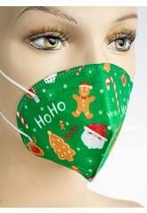 Masque Pour Enfants Nöel Vert Kamabu 33
