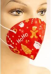 Masque Pour Enfants Nöel Rouge Kamabu 35