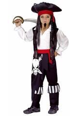 Disfraz Capitán Pirata Niño Talla L