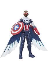 Avengers Titan Hero Figure Falcon Captain America Hasbro F2075