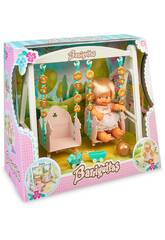 Altalena Barriguitas con figura di bambino Famosa 700016267