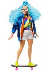 Barbie Extra Pelo Azul Encaracolado Mattel GRN30