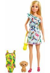Barbie avec valise et accessoires Mattel GRT87