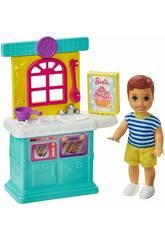 Barbie Skipper Muñeco Bebé con Accesorios de Cocina Mattel GRP16
