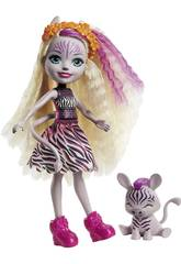Enchantimals Muñeca Zadie Zebra y Ref Mattel GTM27