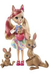 Enchantimals Savane Ensoleillée mini-poupée Kamilla Kangourou Mattel GTM31
