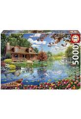 Puzzle 5000 Casita En El Lago de Educa 19056