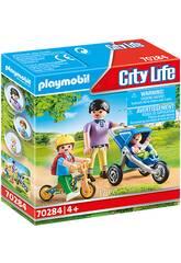 Playmobil Mamá con Niños 70284