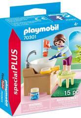 Playmobil Niña con Lavabo 70301