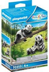 Playmobil Pandas avec bébé 70353