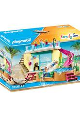 Playmobil Bungalow avec piscine 70435