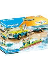 Playmobil Voiture avec Canoë 70436