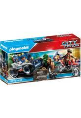 Playmobil City Action Véhicule Tout-terrain Poursuite du Voleur de Trésors 70570