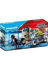 Playmobil City Action Moto Poursuite du Voleur d'Argent 70572