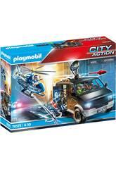 Playmobil City Action Elicottero della polizia, veicolo d'inseguimento 70575