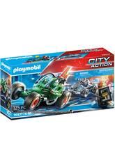 Playmobil City Action Kart Policial Persecución Ladrón de Caja Fuerte 70577