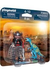 Playmobil Dinos Duopack Velociraptor et Maraudeur 70693
