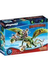 Playmobil Dragon Racing Dragon 2 Têtes avec Chusco et Brusca 70730