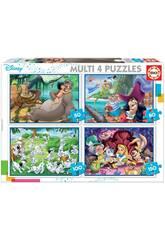 Puzzle Multi 4 50-80-100-150 Clásicos Disney de Educa 18105