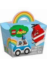 Lego Duplo Helicóptero de Bomberos y Coche de Policía 10957