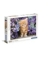 Puzzle 500 Gato Rubio Clementoni 30415