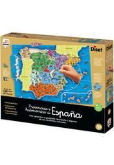 Provinces et autonomies d'Espagne Diset 68942