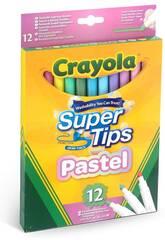 12 Pennarelli Pastello Super Lavabile Colori 58-7515