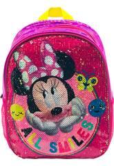 Sac à dos 2 en 1 Minnie All Smiles à sequins réversibles Toybags T300-124