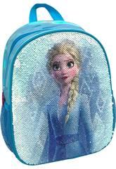 Mochila 2 em 1 Frozen Elsa e Ana com Lentejoulas Reversíveis Toybags T300-120