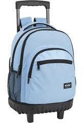 Sac à dos avec trolley Compact Blackfit8 Bleu Safta 641933818
