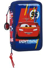 Plumier Doble Pequeño 28 Piezas Cars Racing Block Safta 412011854