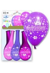 4 Ballons Taille 12GP Princesse Globolandia 5927