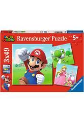 Super Mario Puzzle 3x49 Piezas Ravensburguer 5186