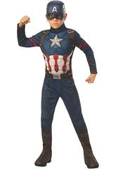 Captain America End Game Classic Costume T-S Rubies 700647-S