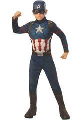 Captain America Endgame Classic Costume pour enfants T-M Rubies 700647-M