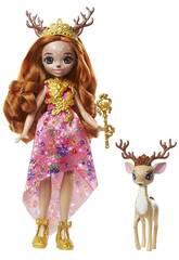 Enchantimals Queen Daviana Doll et Grassy Pet