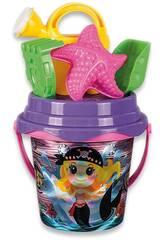 Cube de plage Pirate brillant de 15 cm. avec 5 accessoires Aremar 6643