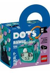 Décoration de sac à dos Lego Dots Narval 41928