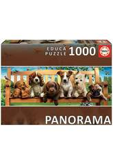 Puzzle 1.000 Perritos En El Banco Panorama Educa 19038