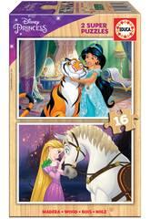 Puzzle Madera 2x16 Disney Princess Educa 18875