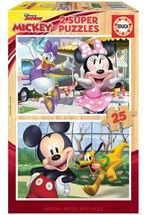 Mickey & Friends Educa 18876 2x25 puzzle