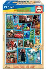 Puzzle Madera 100 Disney Pixar Multiproperty Educa 18881