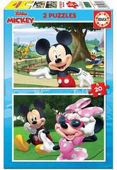 Casse-tête 2x20 Mickey & Friends Educa 18884